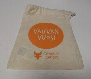 Logoga tekstiilist kott