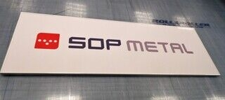 Logoga reklaamsilt - Sop Metal