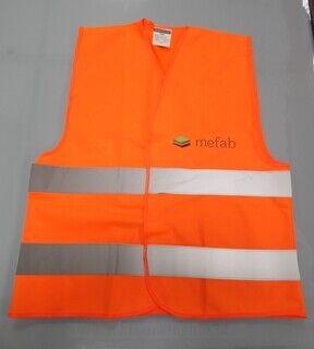 Logoga oranz helkurvest - Mefab