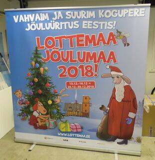 Roll up stend - Lotemaa Jõulumaa