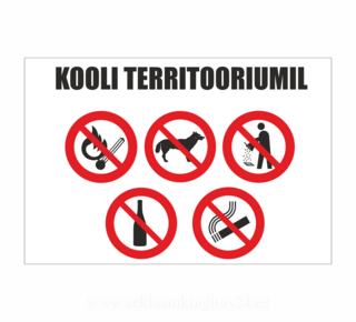 Hoiatussilt kooli territoorium