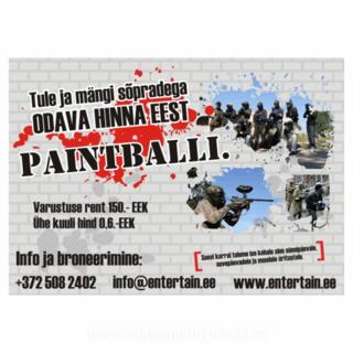 Reklaamsilt - Painball