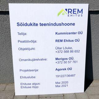 Ehituse objekti infosilt - REM Ehitus OÜ