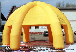 6 jalalla ilmatäytteinen teltta