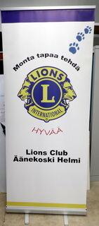 Roll-Up 850x2000 mm Lions Club Äänekoski Helmi