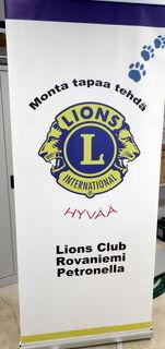 Klassinen Roll-Up Lions Club Rovaniemi Petronella