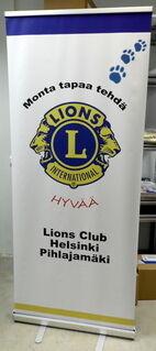 Roll-Up Lions Club Helsinki Pihlajamäki