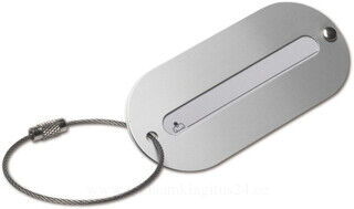 Aluminium luggage tag