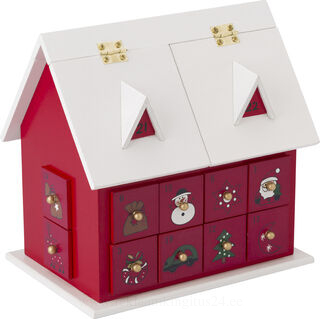 Puinen house advent calendar with drawers