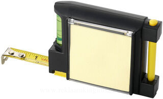 2M measuring tape with level