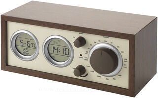 Classic radio with temperature