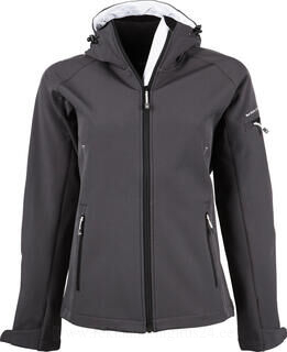 Ladies Hooded Fashion Softshell Jacket 2. pilt